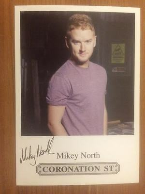 "Mikey North Coronation Street Pre-Printed Signature Cast Card 6"" X 4""."