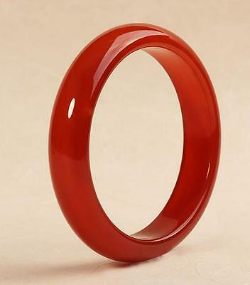 Chinese natural red agate chalcedony ice jade bangle bracelet 56 mm ~ 62 mm
