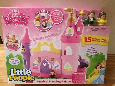 NEW Fisher Price Little People Disney Princess Musical Dancing Palace