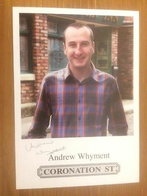 "Andrew Whyment Coronation Street Pre-Printed Signature Cast Card 6"" X 4""."