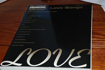 Essential Songs – Love Songs OR Love Standards - Piano Vocal Guitar