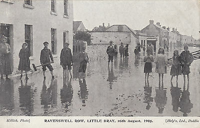 1905 used postcard ~ flooding at Ravenswell Row Little Bray