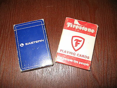 advertising playing cards * Eastern Airlines * Firestone tires*