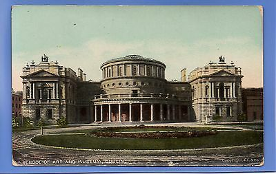 Old Vintage Postcard School Of Art And Museum Dublin Ireland