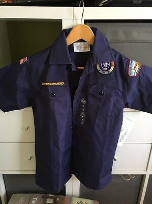 Boy Scouts of America Shirt Youth Medium With original badges