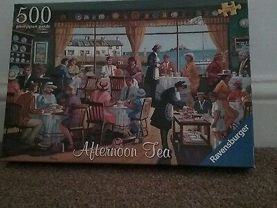 Afternoon Tea 500 Piece Ravensburger Jigsaw Puzzle Used
