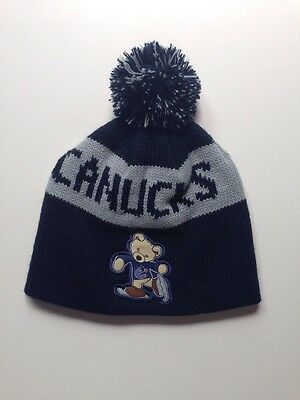 Youth Vancouver Canucks Toque Hat NHL Navy Blue NEW