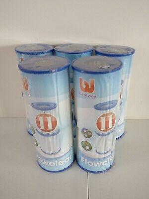 New 10 Bestway Lay-Z-Spa/swimming Pool Filter Cartridges!