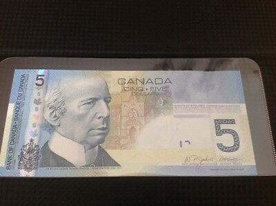 2006 $5 Bank of Canada Note, Jenkins/Dodge Signatures, AOK2550234, UNC+++