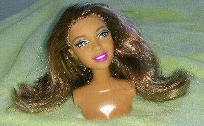 Aa Barbie Nikki Swappin Styles Doll Head Only