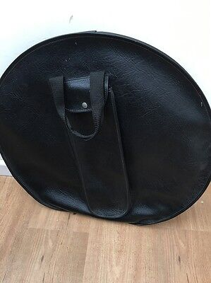 """20"""" Cymbal Bag Leather Look Cheap P&P"""