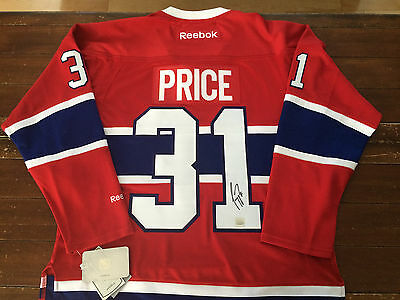 Carey Price Montreal Canadiens NEW 2015 MODEL OFFICIAL Reebok signed jersey