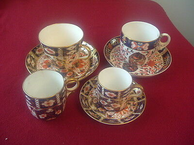 Royal Crown Derby Imari Selection.Two Saucers Very Good  4 Cups 1 saucer all a/f