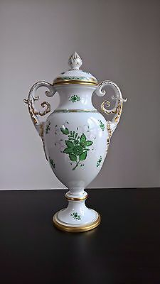 Herend Huge Vase Chinese Bouquet Green 150th Anniversary 1976 MINT LIMITED !