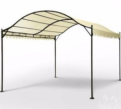 Pergola Canopy Shelter Gazebo Garden Structure Outdoor Patio Wall Pavilion White
