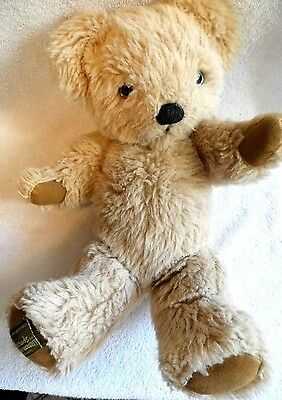 """Vintage 15"""" Merrythought Teddy Bear Gold Limited Edition England Harrods - 1981"""
