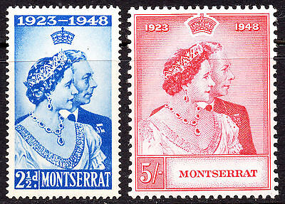 Montserrat KGVI 1948 Royal Silver Wedding (1949) SG115/116 Superb MNH Set