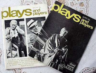 Two 1972 Copies Of Plays And Players Magazines