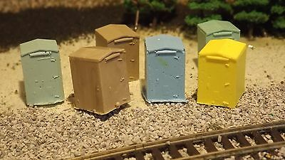 N-scale 6 Unfinished Trackside Electrical Box's 1:160 Model Train Detail Accesso