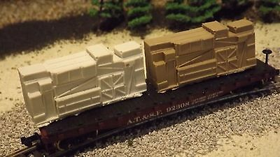 N-Scale 2 Unfinished Crate Freight Car Loads/Detail Parts