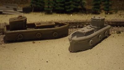 N-Scale 2 pc. Waterline Work Boat *Seconds* /1:160 Detail Parts