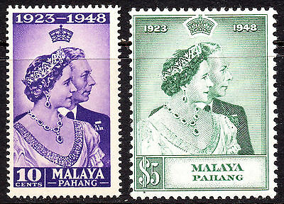 Malaya Pahang KGVI 1948 Royal Silver Wedding SG47/48 Fine MNH Set