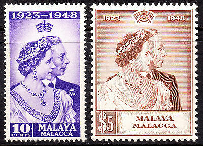 Malaya Malacca KGVI 1948 Royal Silver Wedding SG1/2 Very Fine MNH Set