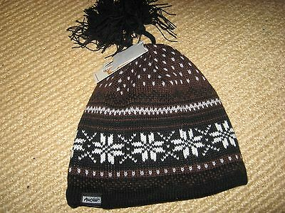 Nwt*adult*auclair Ski Hat * One Size Unisex * Brown/black