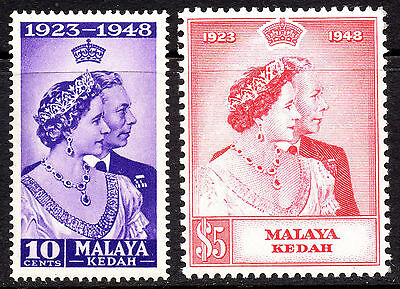 Malaya Kedah KGVI 1948 Royal Silver Wedding SG70/71 Very Fine MNH Set