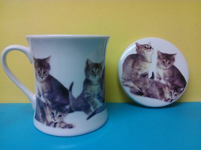 Cat Kitten Mug and Coaster by the Leonardo Collection - Purrfect!
