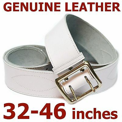 Men's belt genuine leather strap 50mm fashion for jeans real leather belt white
