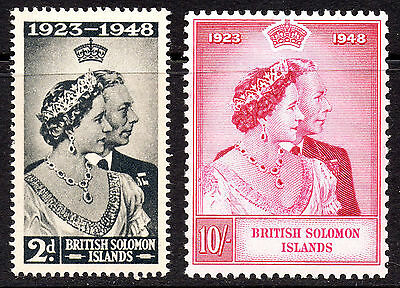 British Solomon Islands KGVI 1948 Silver Wedding (1949) SG75/76 Superb MNH Set