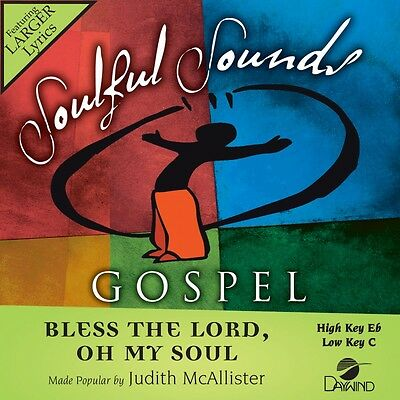 Judith McAllister - Bless The Lord, Oh My Soul - Accompaniment CD New