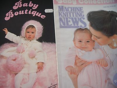 2 Knitting Machine pattern books ;Baby colln from Machine KN, Baby Boutique