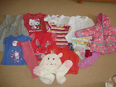 Baby Girl Clothes Bundle 21 items Coat Tops Leggings New Hat