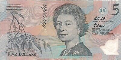 1992 Australia 5 Dollars Bank Note - Polymer, Crisp, Uncirculated