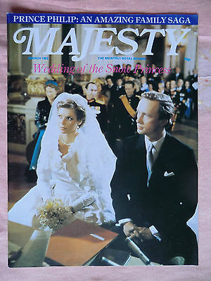 March 1982 Majesty Magazine - Vol 2 No.11 Princess Diana & Royal Family Monthly