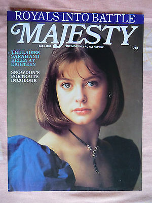 May 1982 Majesty Magazine -  Vol 3 No.1 British & Worldwide Royalty Monthly