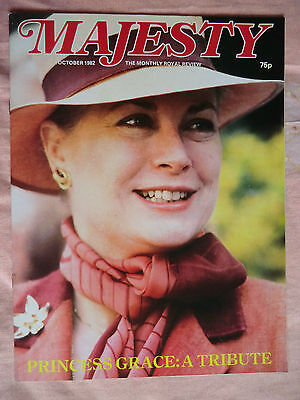 Oct 1982 Majesty Magazine - Vol 3 No.6 Princess Diana & Royal Family Monthly
