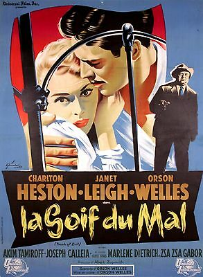 Touch Of Evil - Original French Poster - Very Rare