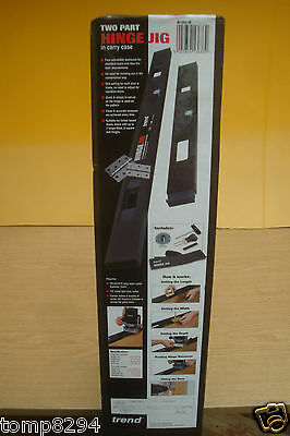 Brand New Trend 2 Part Router Hinge Jig  H/jig/a + Diamond Credit Card