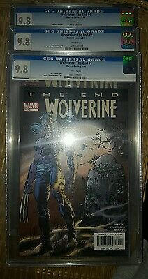 Wolverine : The End #1 CGC 9.8 White pages  1/2004 Great moon cover also 2&4