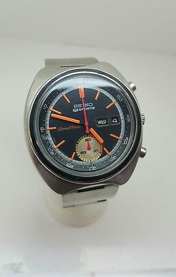 Vintage seiko chronograph speed timer gents mens automatic watch