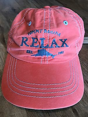 Htf Nwt Tommy Bahama Relax Orange And Blue Soft Mens Or Ladies Hat Cap
