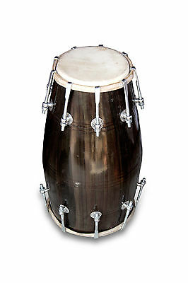 Handmade Bolt Tuned Indian Mango Wood Musical Dholak Bhajan Kirtan Use 0163