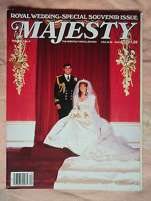 1986 Majesty Magazine - Vol 7 No.4 Princess Diana & Royal Family Monthly