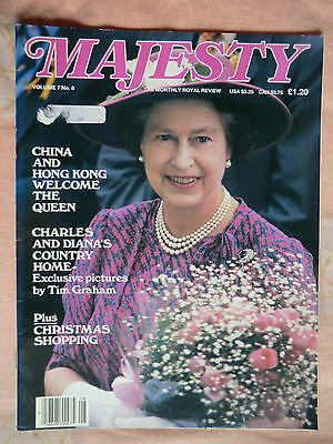 1986 Majesty Magazine - Vol 7 No.8 Princess Diana & Royal Family ( GB & World)