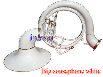 Sousaphone Tuba White_Colored 25'' Bell Bb Pitch Professional W/bag&mp Brassitem