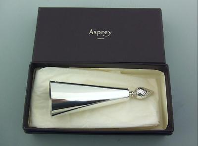 Modern Asprey Silver Candle Snuffer Doubter Boxed