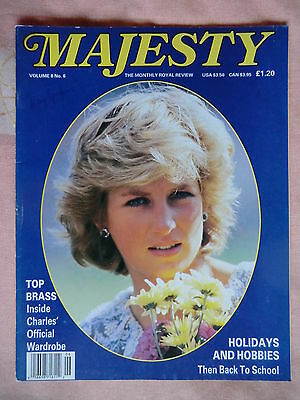 1987 Majesty Magazine - Vol 8 No.6 Princess Diana & Royal Family (GB & World)